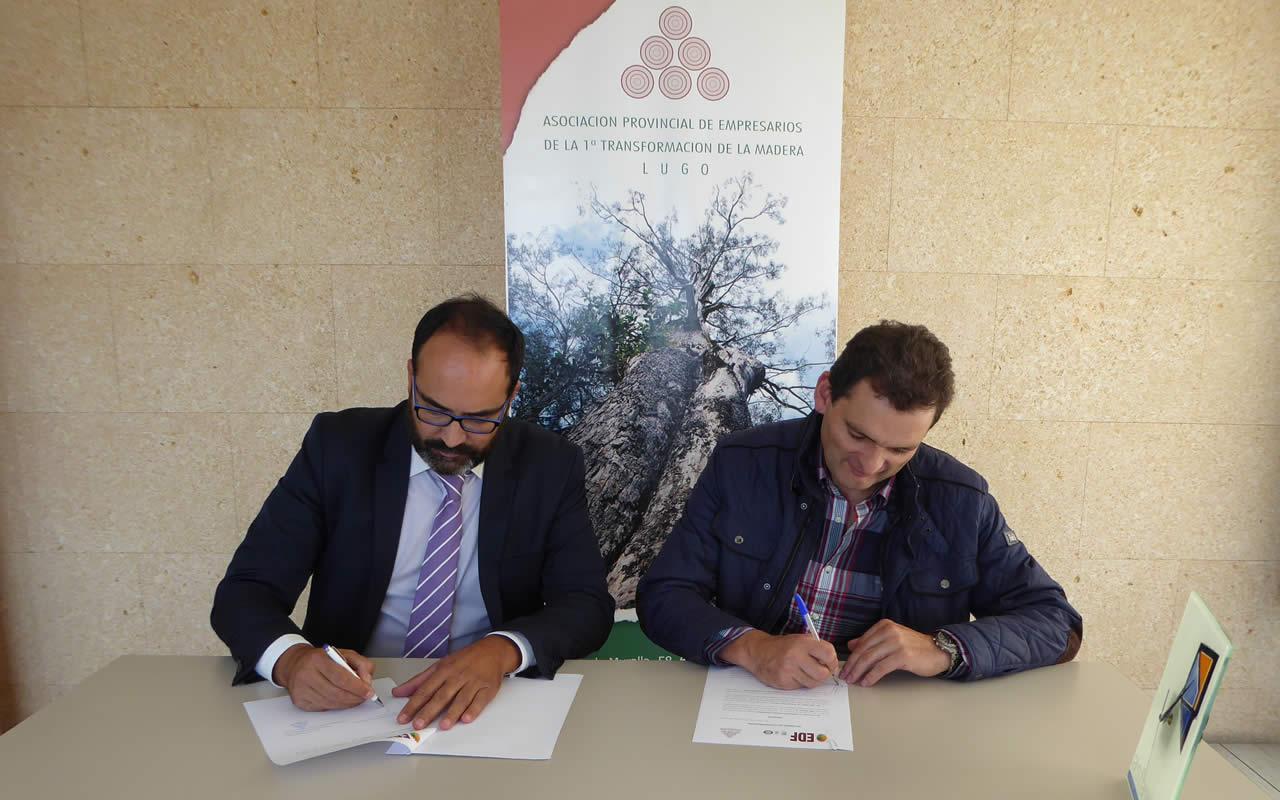 Firma convenio colaboración con empresarios madera Lugo