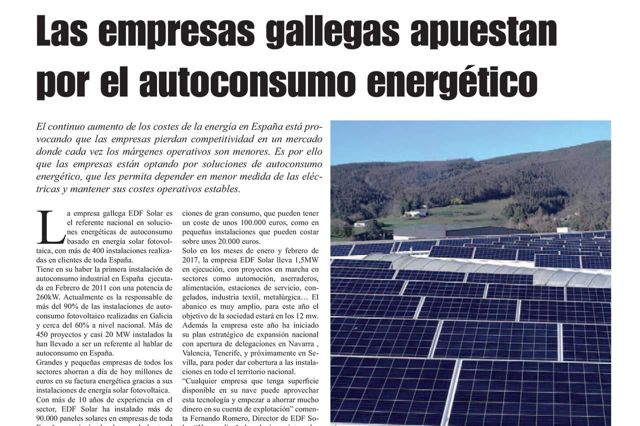 Artículo de EDF Solar en La Voz de Galicia