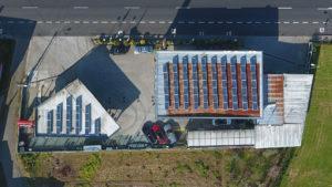 Instalación de energía solar fotovoltaica para autoconsumo en Gasolinera Inversiones 1802 (A Coruña)