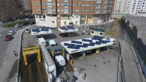 Instalación energía solar fotovoltaica autoconsumo gasolinera Motor Rosales