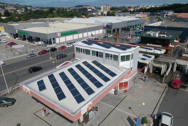 Instalación de autoconsumo en gasolinera Icaria 24 Horas - Eidf Solar