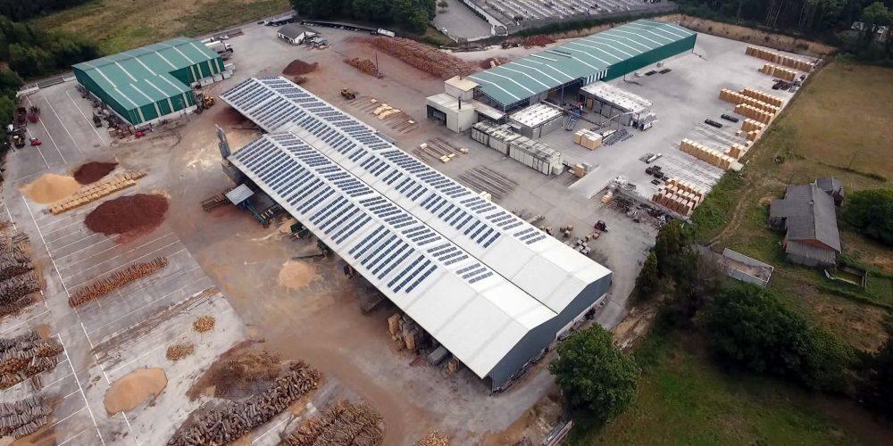 Instalación de autoconsumo industrial en Maderas Goiriz (Lugo) - EDF SOLAR