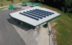 Instalación de autoconsumo en gasolinera Peteiro Motor - EDF SOLAR