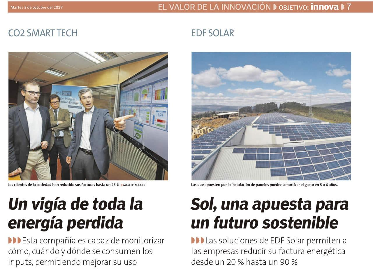 EDF Solar en La Voz de Galicia