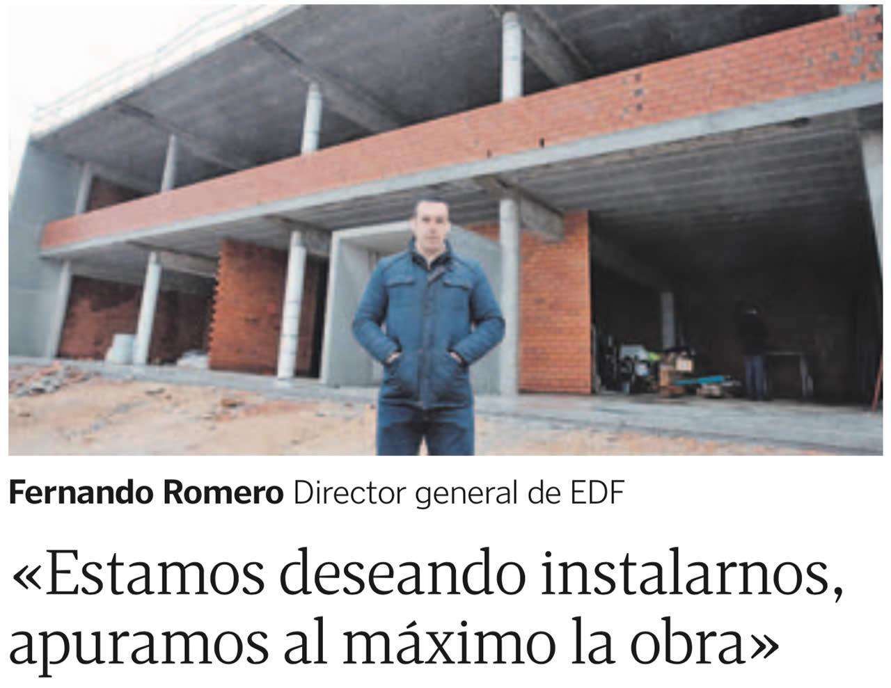 EDF Solar en La Voz de Galicia: Instalaciones en polígono Barro Meis