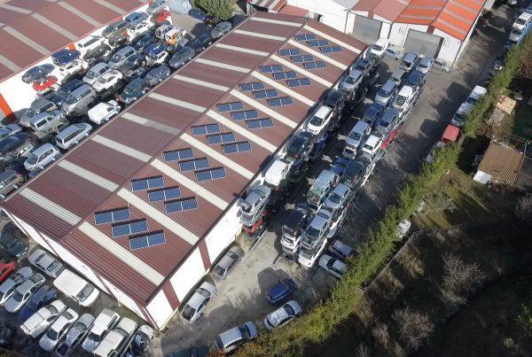 Eidf Solar - Instalación de autoconsumo en Desguaces Recuperaciones Valdizarbe, Navarra