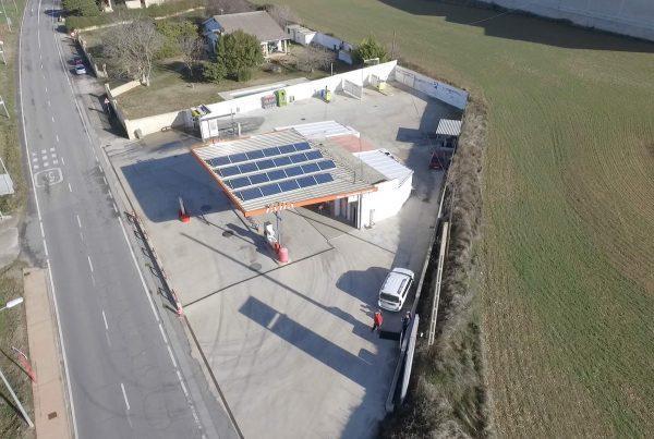 Eidf Solar - Instalación de autoconsumo fotovoltaico en gasolinera Hermanos Fernández Urabain