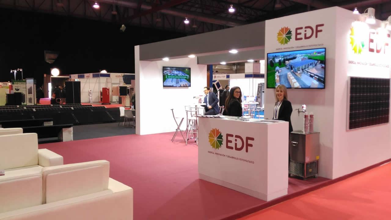 Stand de EDF Solar en la Feria da Enerxía de Galicia, Silleda 2018