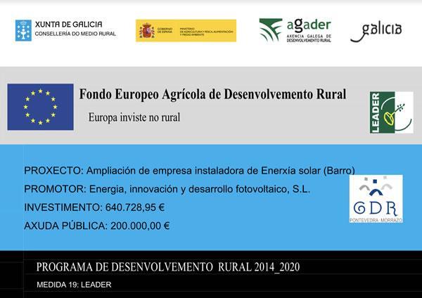 Programa desenvolvemento rural EDF Solar
