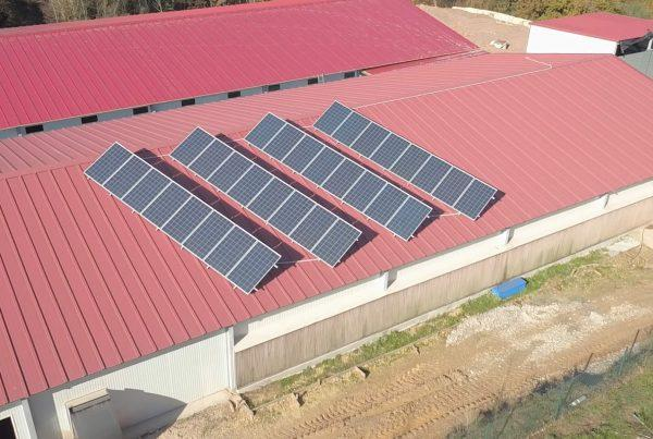 Instalación de autoconsumo en granja Inés Taboada Blanco, Pontevedra - EDF Solar