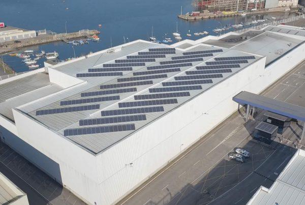 Instalación de autoconsumo industrial en la empresa Cabomar, Marín - Pontevedra - EDF Solar