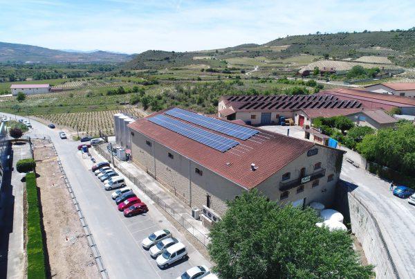 Instalación de autoconsumo industrial en Bodegas Covila, Araba - Eidf Solar