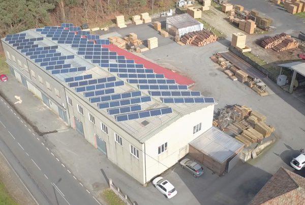 Instalación de autoconsumo industrial en Maderas Aquiles Nieto, A Coruña - Eidf Solar