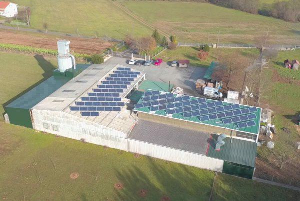 Cubierta solar fotovoltaica en Carpintería O Pino, A Coruña - Eidf Solar