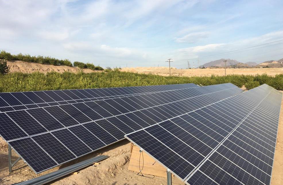 Instalación solar fotovoltaica para riego