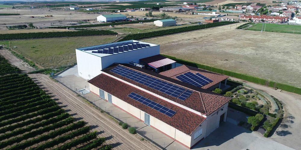 Instalación de autoconsumo en Bodegas Val de Vid, Valladolid - EDF SOLAR