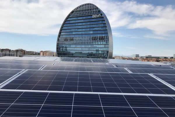 EDF Solar - Instalación de autoconsumo en Ciudad BBVA, Madrid