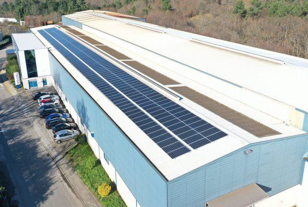 Instalación de autoconsumo industrial en Metaldeza 2, Pontevedra - Eidf Solar