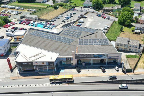 Instalación autoconsumo fotovoltaico en Lugocar-EDF Solar