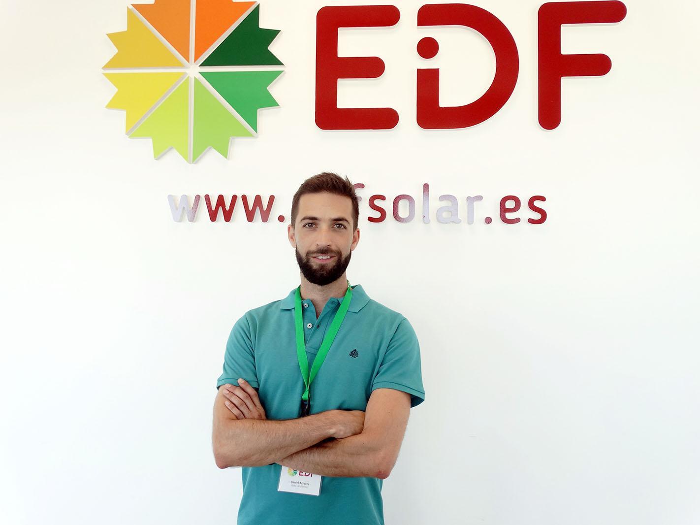 Daniel Álvarez es ingeniero técnico en EDF Solar