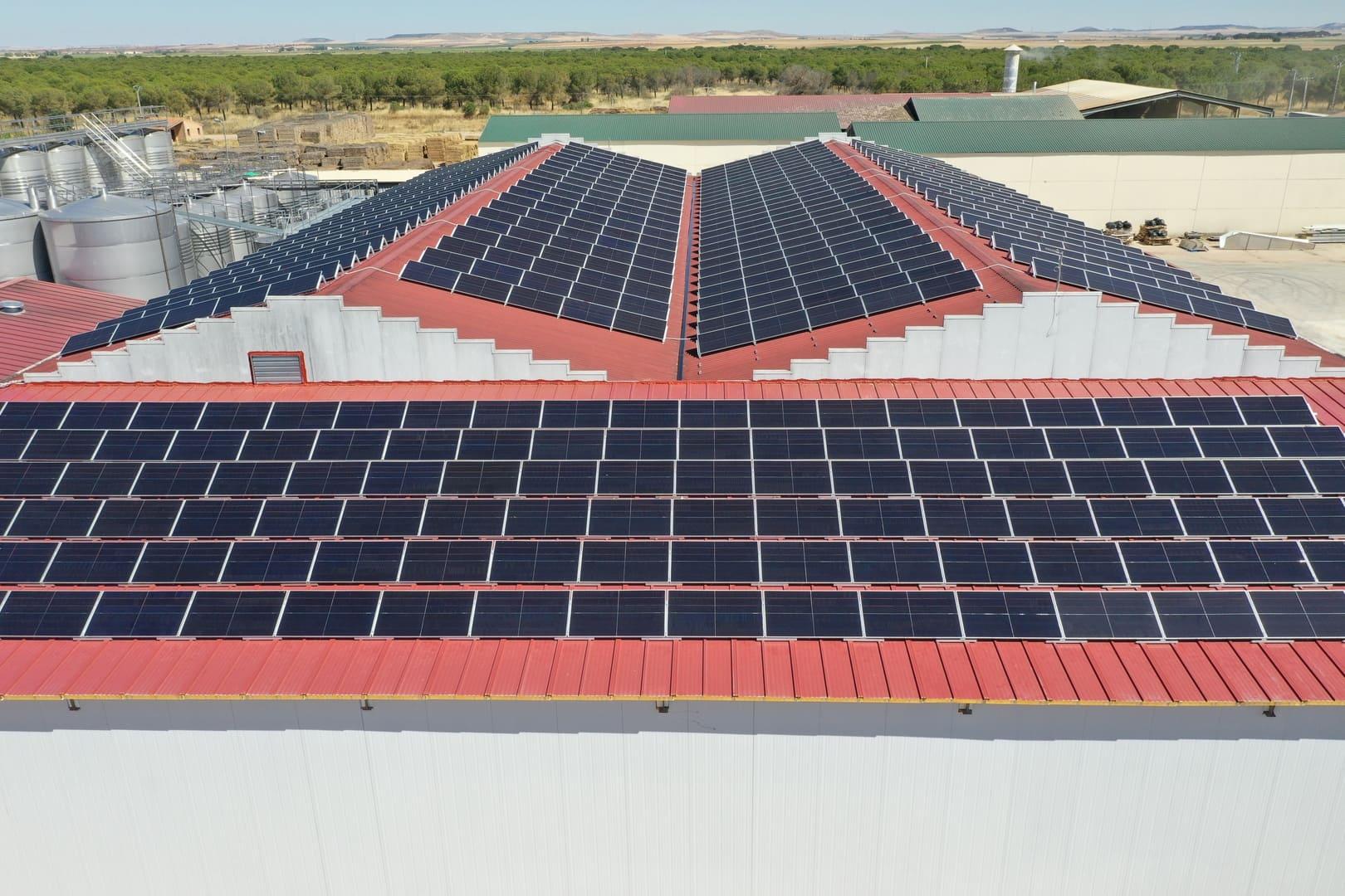 Instalacion de autoconsumo fotovoltaico en Bodega Copaboca - Valladolid - EDF Solar