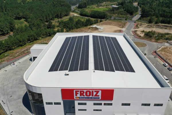 EDF SOLAR - Instalación de autoconsumo industrial en centro logístico Froiz, Pontevedra