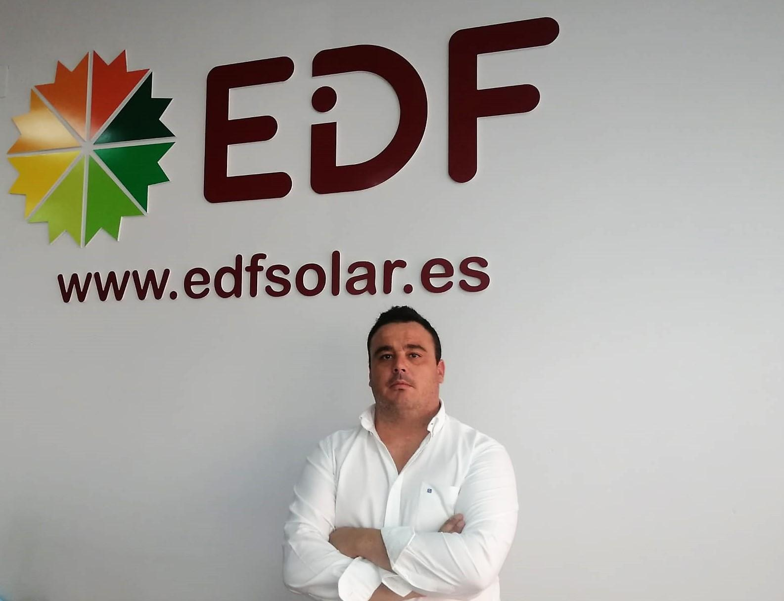 Vicente Gómez - delegado comercial de Castilla La Mancha de EDF Solar- expertos en autoconsumo fotovoltaico
