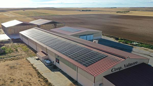 Instalación de autoconsumo fotovoltaico en Cooperativa de Valmoro | EDF Solar