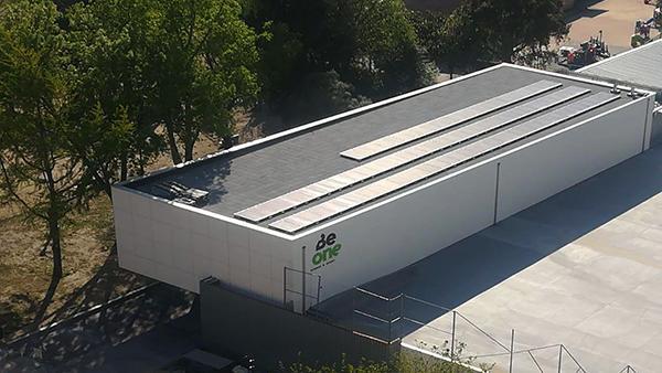 Instalación de autoconsumo fotovoltaico en gimnasio BeOne - EDF Solar