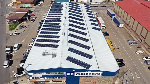 Instalación de autoconsumo fotovoltaico en Mecanasa | Eidf Solar