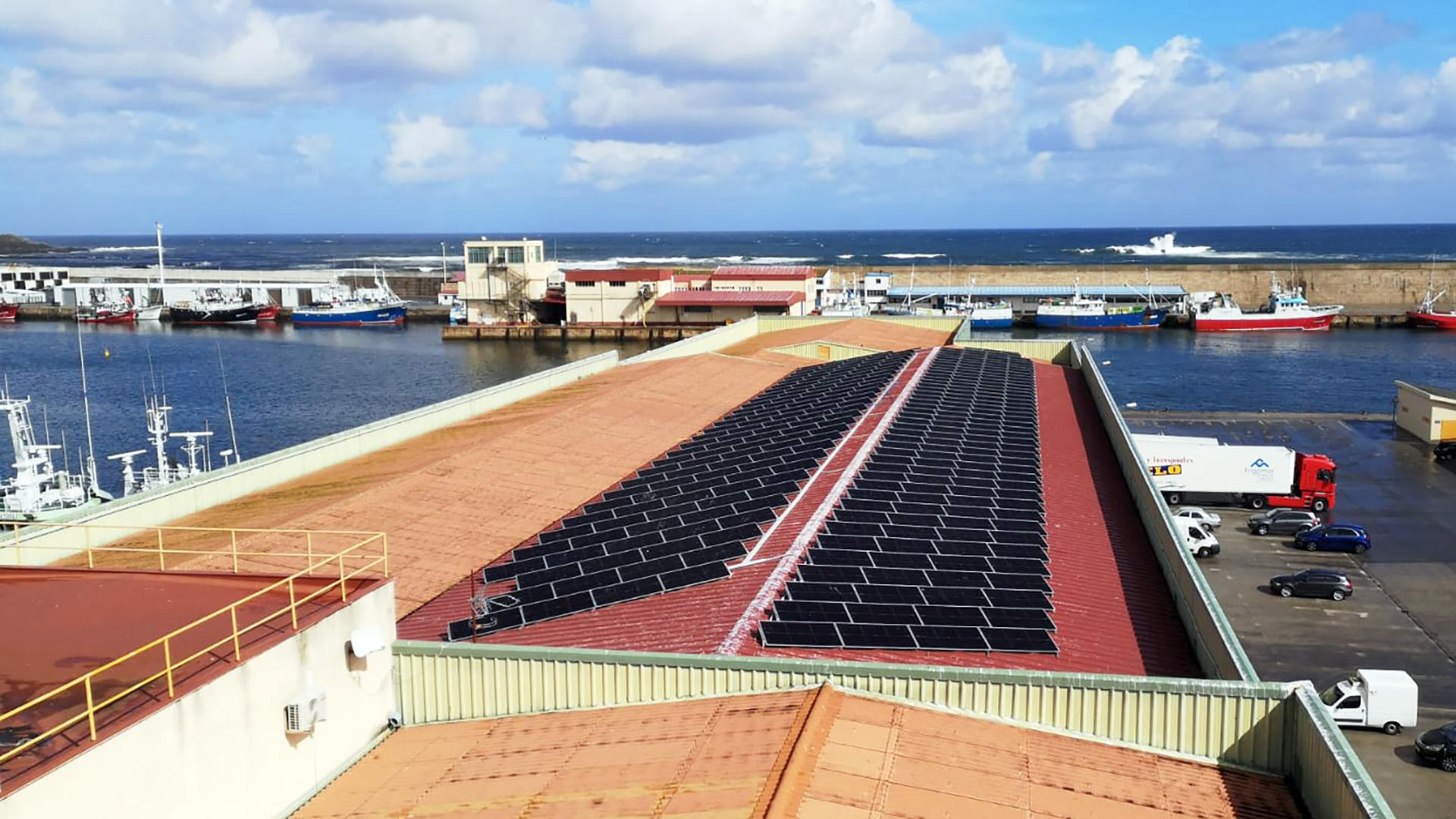 Instalación de autoconsumo fotovoltaico en Lonja de Burela   EDF Solar
