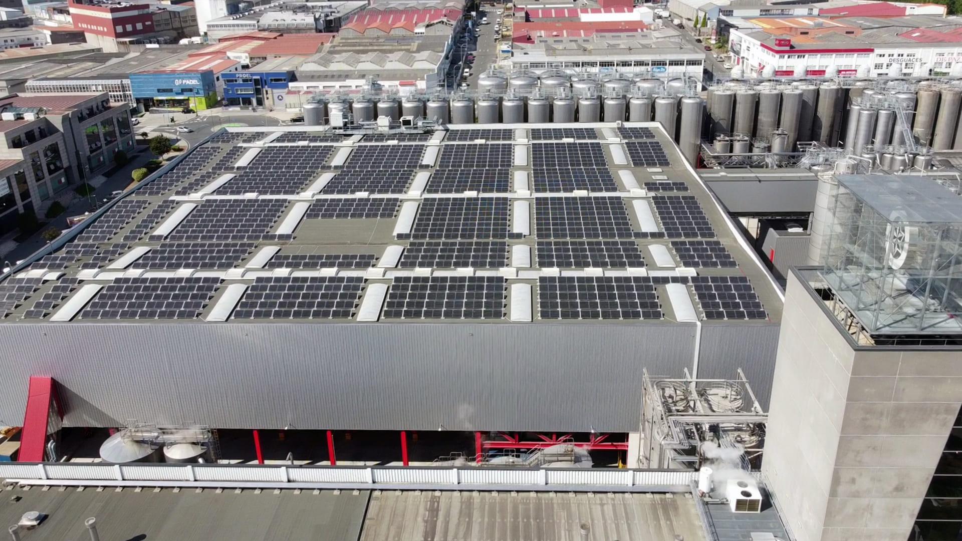 Instalación de autoconsumo fotovoltaico en Estrella Galicia   Eidf Solar