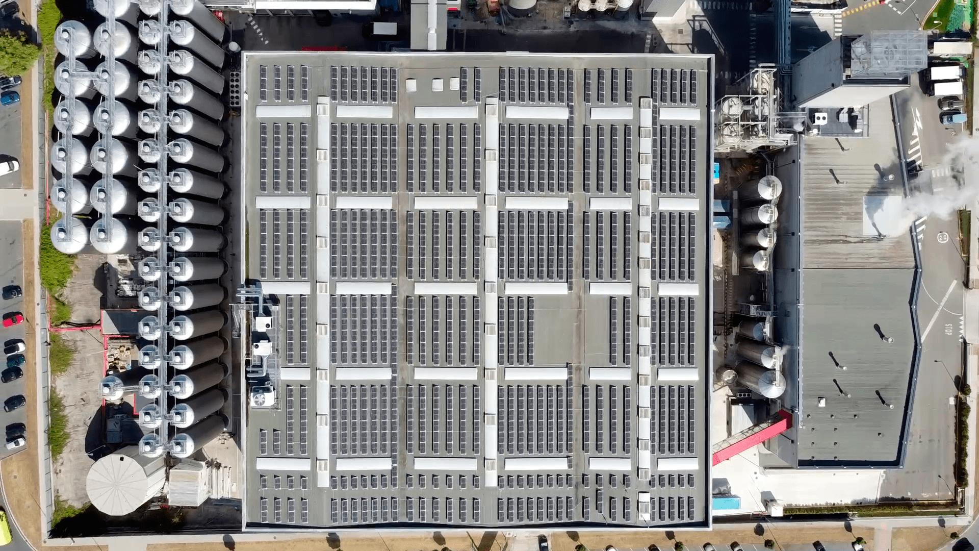 Instalación de autoconsumo fotovoltaico en Estrella Galicia | Eidf Solar