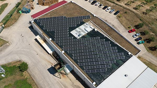 Instalación de autoconsumo fotovoltaico en Ékolo Productos Ecológicos | EiDF