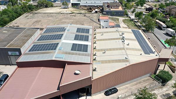 Instalación de autoconsumo fotovoltaico en Grafiques Lamolle| EiDF
