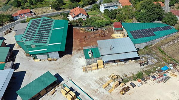 Instalación de autoconsumo fotovoltaico en Maderas Ganceiros   EiDF